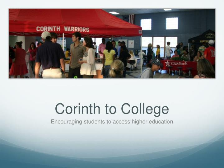 Corinth to College