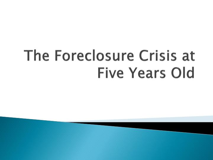 contributors to the foreclosure crisis and steps Foreclosure crisis update posted by alan white in the ten years from 2007 through the end of 2016, about 67 million foreclosure sales were completed, and another 2 million or so short sales and deeds-in-lieu of foreclosure brought the total home losses to about 87 million, according to hope now.