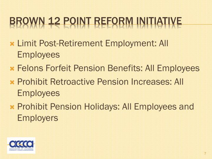 Limit Post-Retirement Employment: All