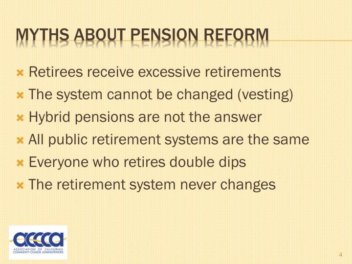 Retirees receive excessive retirements