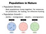 populations in nature