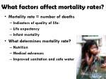 what factors affect mortality rates