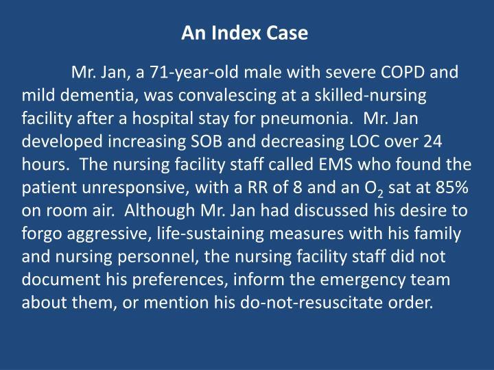 An Index Case