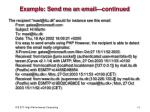 example send me an email continued