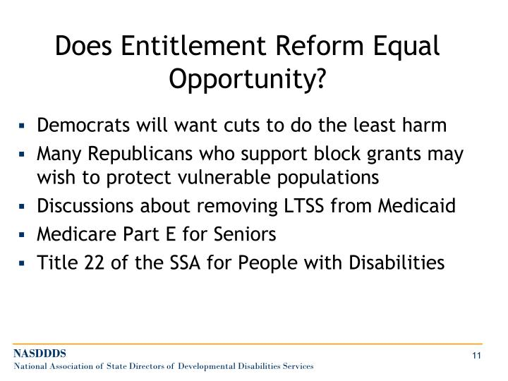 Does Entitlement Reform Equal Opportunity?
