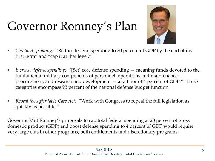 Governor Romney's Plan