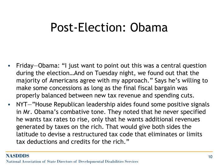 Post-Election: Obama