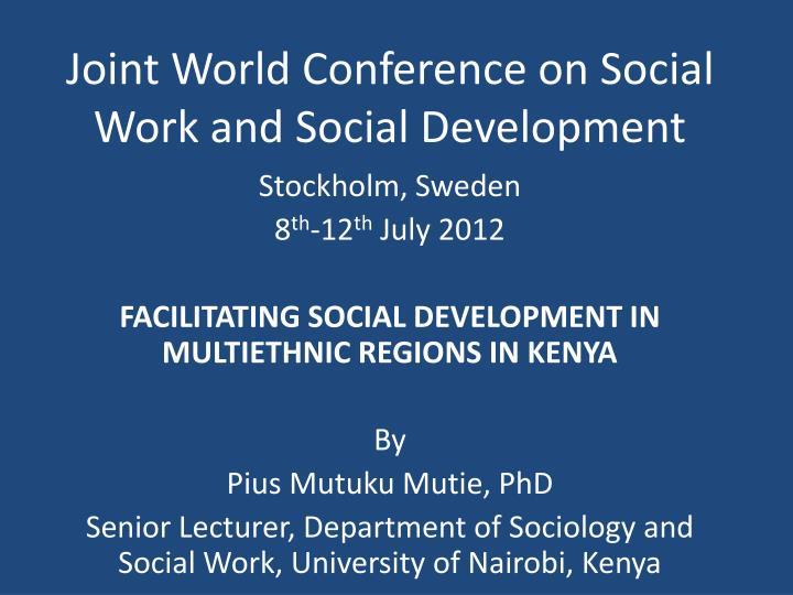 joint world conference on social work and social development n.