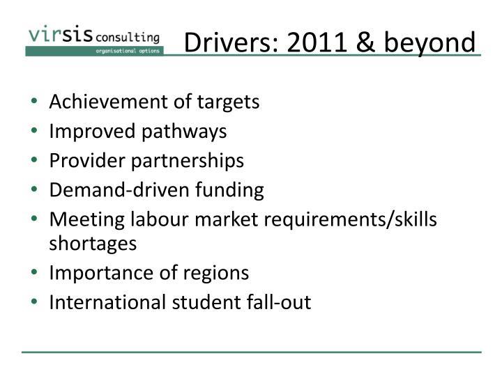 Drivers: 2011 & beyond