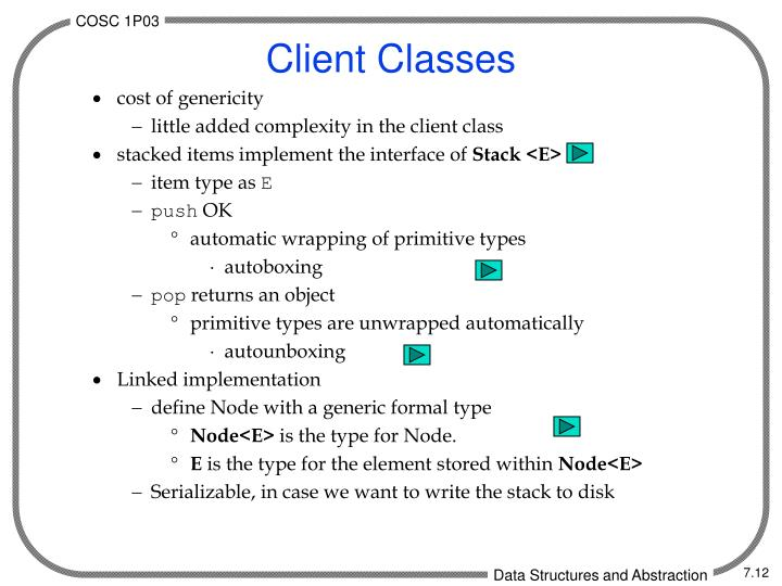 Client Classes