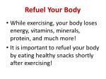 refuel your body