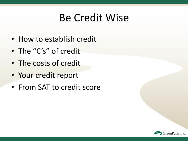Be Credit Wise