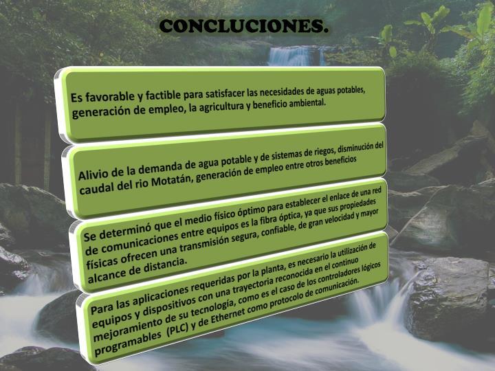 CONCLUCIONES.