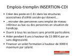 emplois tremplin insertion cdi