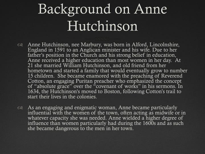 similarities and differences between anne hutchinson and hester Similarities and differences between anne hutchinson and hester prynne similarities and differences between anne hutchinson and hester prynne while many people may feel that anne hutchinson has nothing in common with hester pyrnne they actually more alike than most people would think.