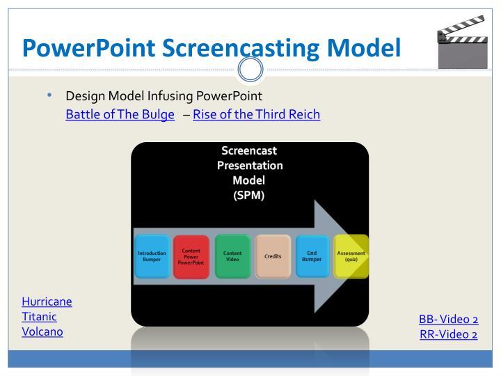 PowerPoint Screencasting Model