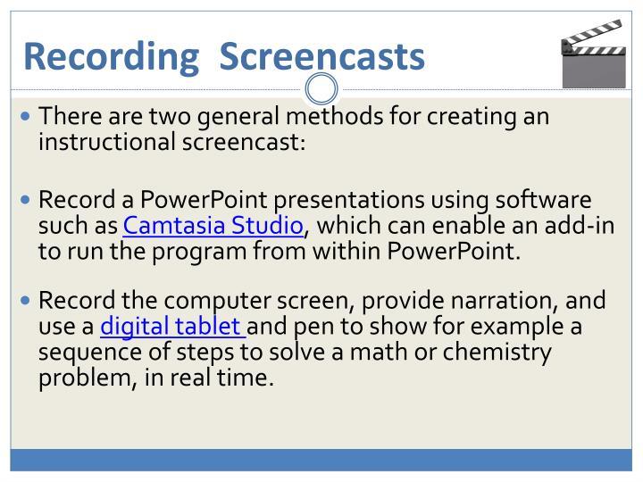 Recording  Screencasts