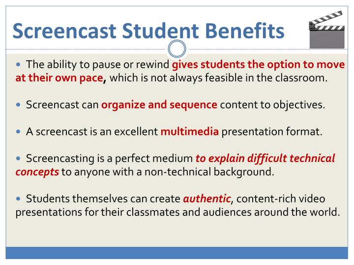 Screencast Student Benefits