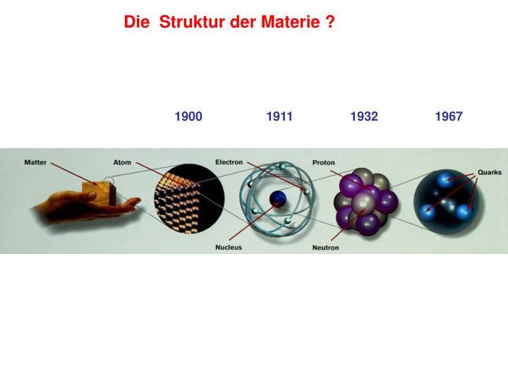 Die  Struktur der Materie ?