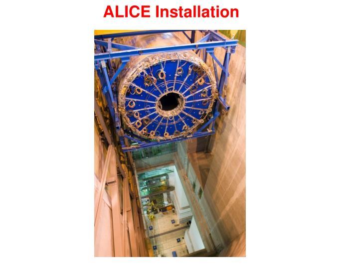 ALICE Installation