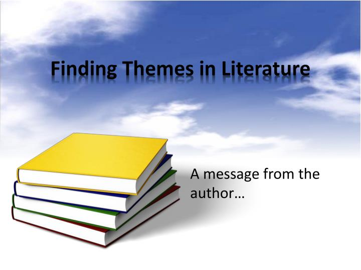 finding themes in literature n.