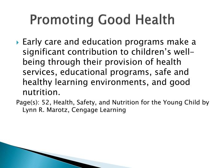 Promoting Good Health