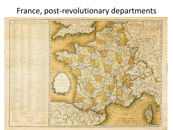 France post revolutionary departments