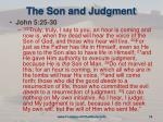 the son and judgment