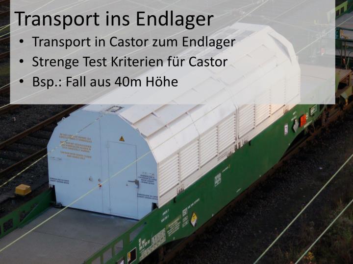Transport ins Endlager