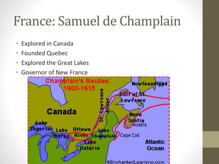 France: Samuel de Champlain