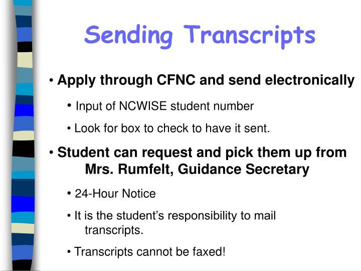 Sending Transcripts