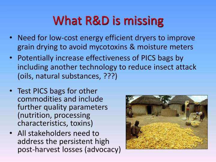 What R&D is missing