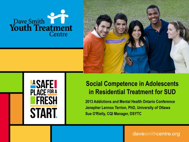 social competence in adolescents in residential treatment for sud n.