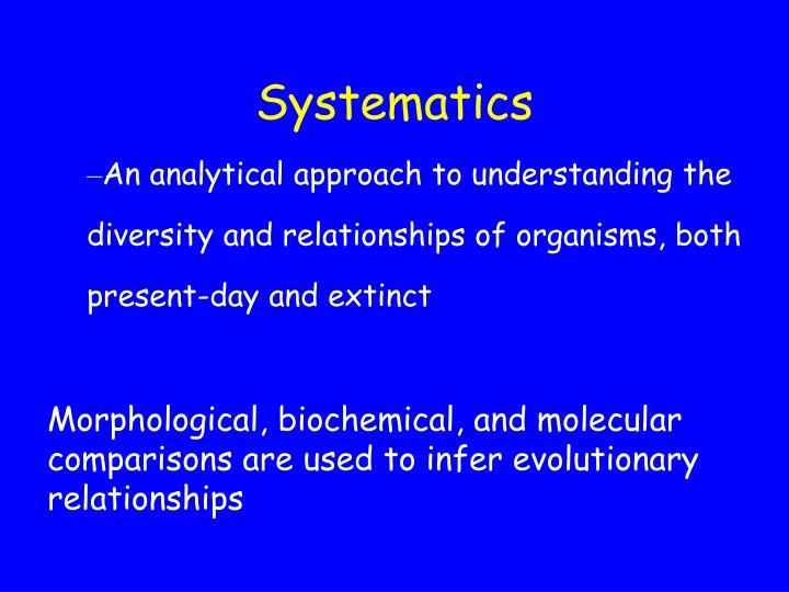 Systematics