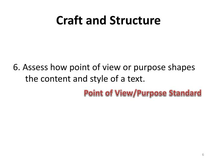 Craft and Structure