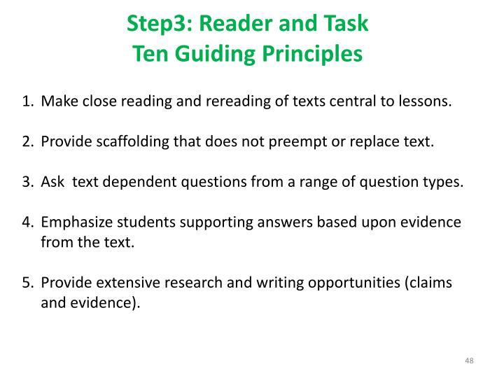 Step3: Reader and Task