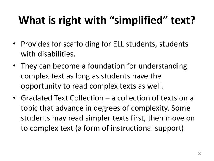 """What is right with """"simplified"""" text?"""