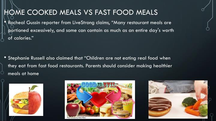 Home Cooked meals vs Fast Food meals
