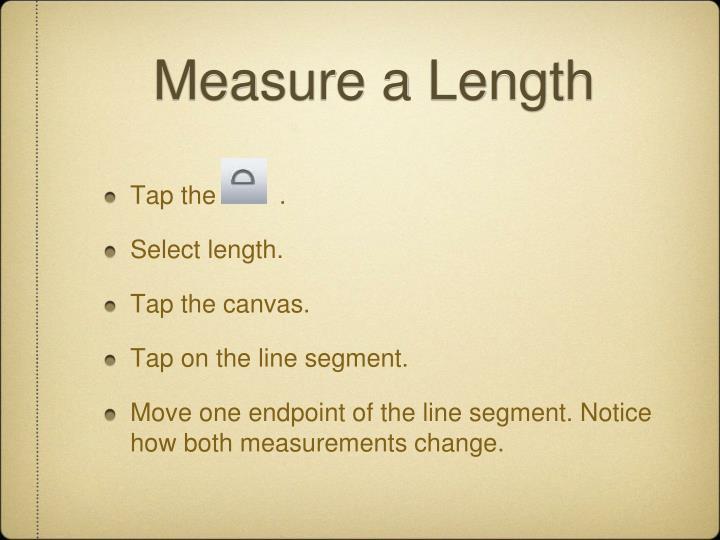 Measure a Length