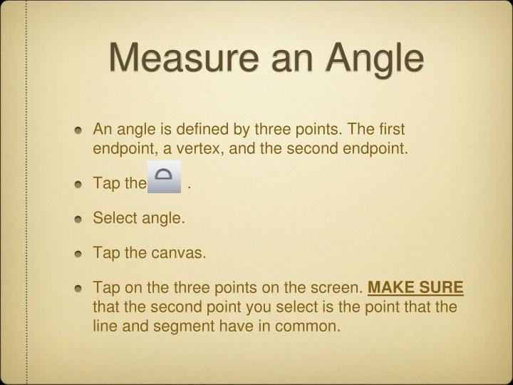 Measure an Angle