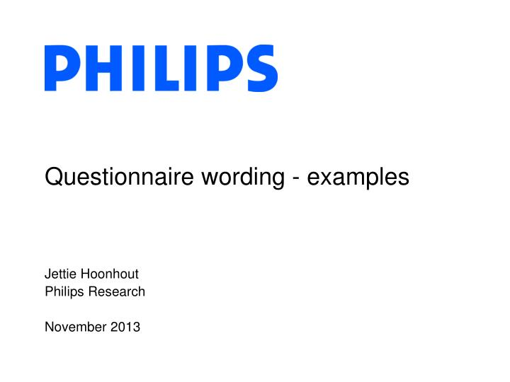 questionnaire wording examples n.