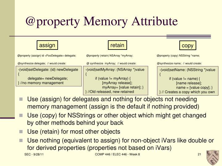 @property Memory Attribute