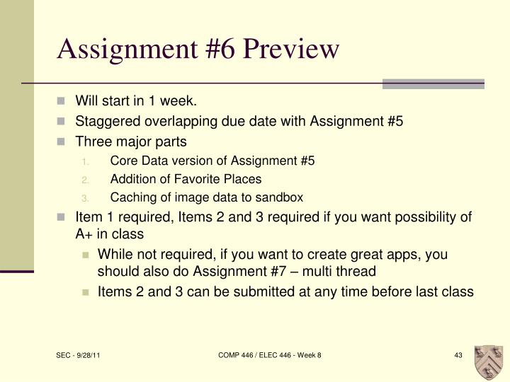 Assignment #6 Preview