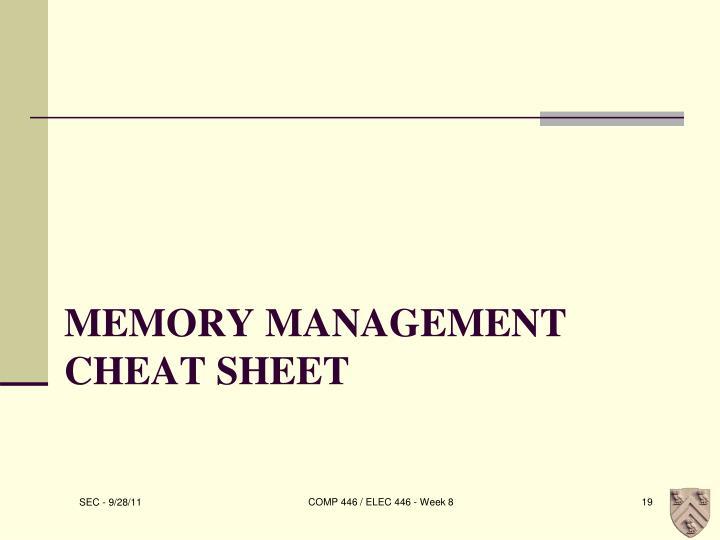 Memory Management Cheat Sheet