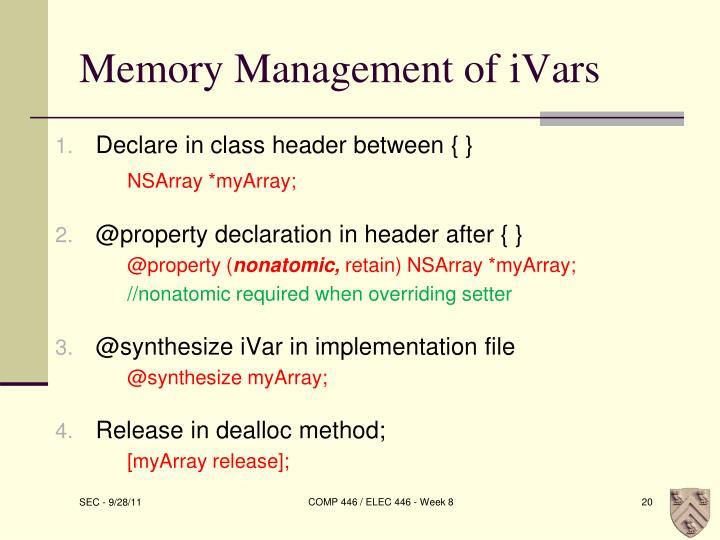 Memory Management of