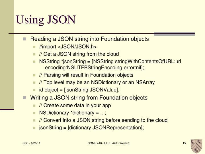 Using JSON