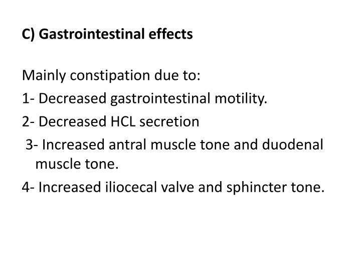 C) Gastrointestinal effects
