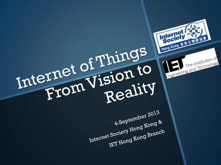 internet of things from vision to reality n.
