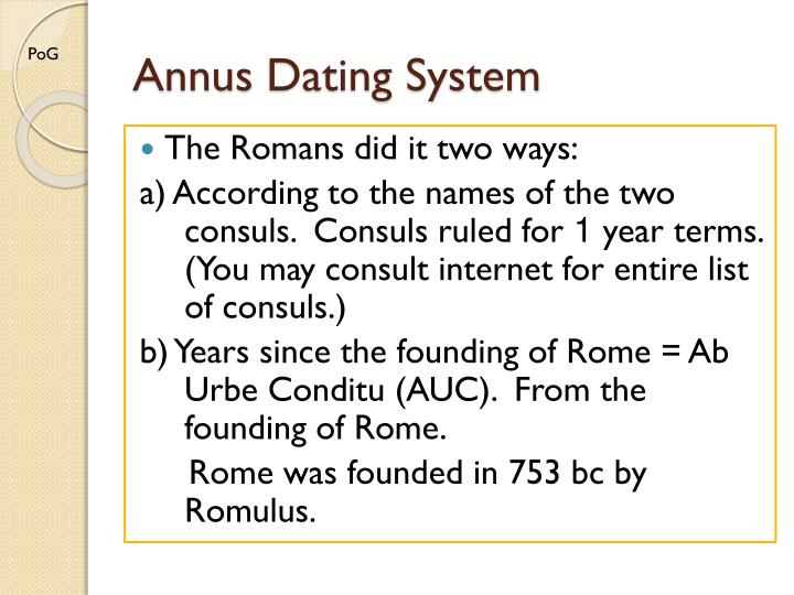 Roman dating auc