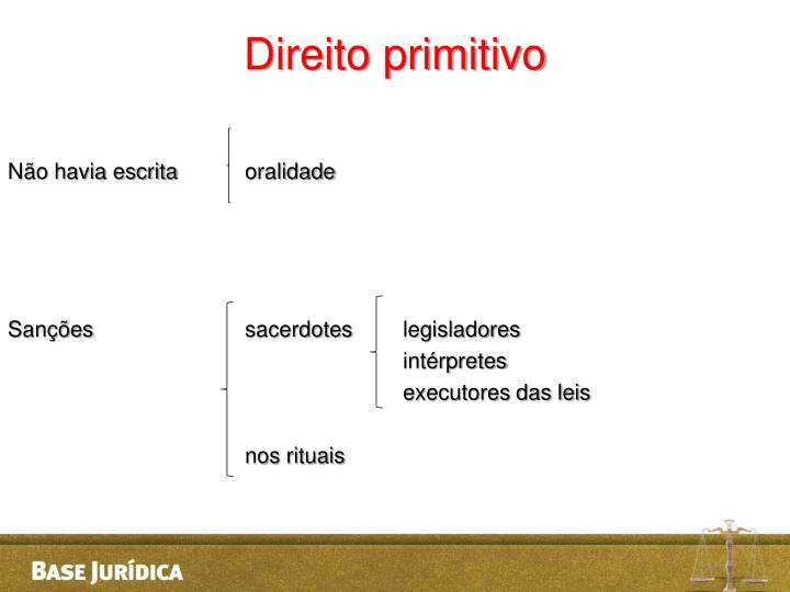 Direito primitivo